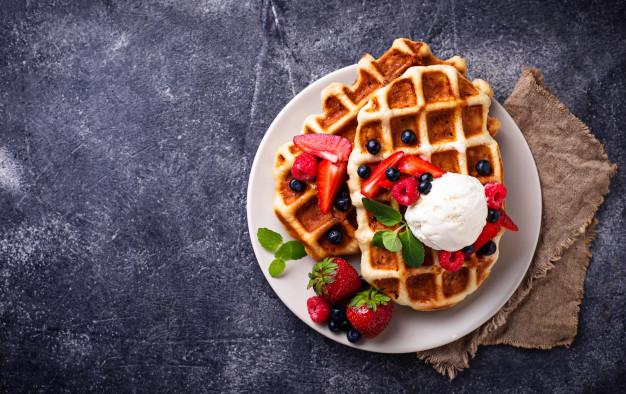 How to make dessert waffles