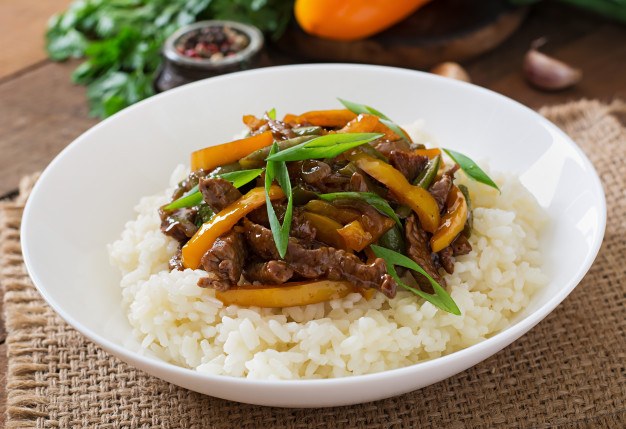 How to cook beef with rice